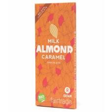 BIO Melkchocolade caramel almond - 100 g