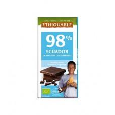 BIO fondantchocolade 98% cacao - 100 g